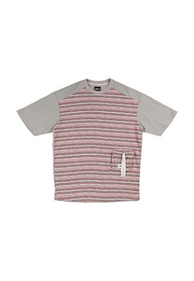AJO BY AJO아조바이아조 Oversized Twofold Knitted T-Shirt [Pink]