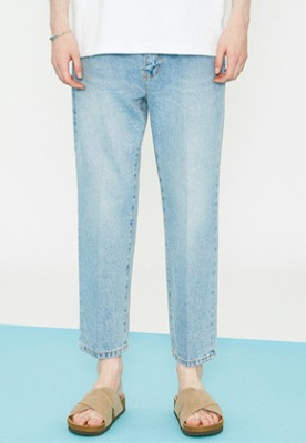 Voiebit브아빗 V273 STABLE CROP DENIM PANTS LIGHT BLUE