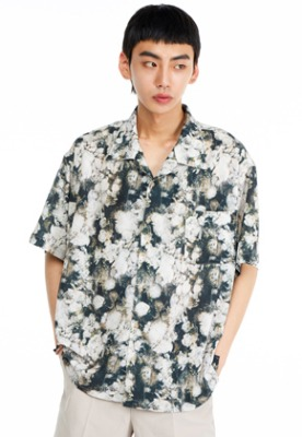 The Greatest더 그레이티스트 GT19SUMMER 02 Flower Shirts GREEN