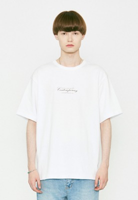 Voiebit브아빗 V366 CONTEMPORARY HALF-TEE  WHITE