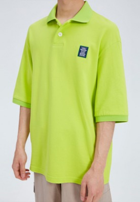 NOHANT노앙 LOVE CITY WAPPEN PIQUE SHIRT LIME