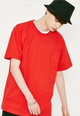 Voiebit브아빗 V367 BASIC OVERFIT HALF-TEE  RED