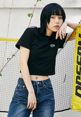 McnChips맥앤칩스 OG CROP TOP BLACK