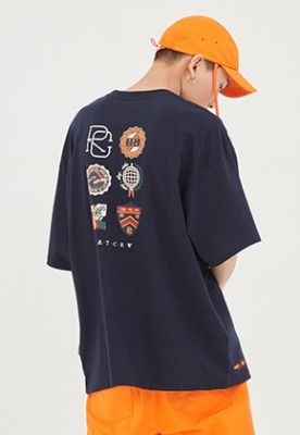 Romantic Crown로맨틱크라운 RMTC Video Case T Shirt_Navy