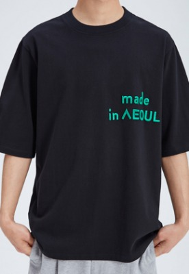 NOHANT노앙 MADE IN SEOUL T SHIRT BLACK