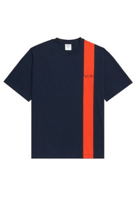Evan Laforet에반라포레 VERTICAL LINED TEE - NAVY