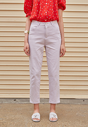Yan13얀써틴 TRENDY STRAIGHT COTTON PANTS_VIOLET