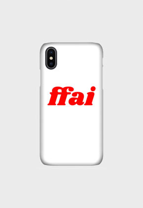 FFAI파이 BASIC LOGO CASE WHITE