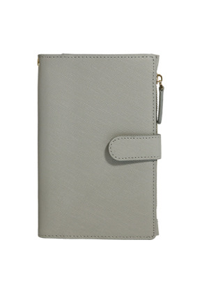 D.LAB디랩 DH88 (안티스키밍) Passport Wallet - Gray