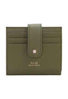 D.LAB디랩 (탄생석지갑) Fiore Half Wallet - Green