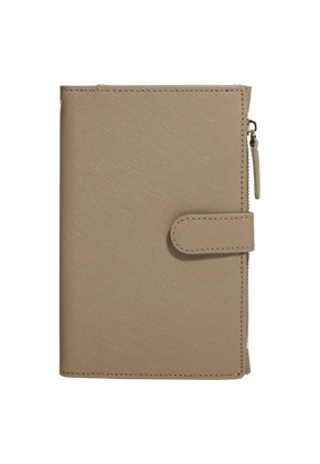 D.LAB디랩 DH88 (안티스키밍) Passport Wallet - Beige