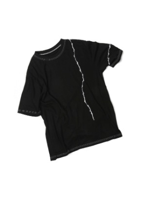 Double:L더블엘 CRACK EMBROIDERY  T-SHIRTS