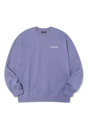 Markgonzales마크곤잘레스 M/G SMALL SIGN LOGO CREWNECK PURPLE
