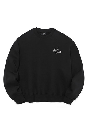 Markgonzales마크곤잘레스 MG x CHARM`S CIRCLE CREWNECK BLACK