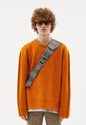 Anderssonbell앤더슨벨 UNISEX INSIDE OUT CREW NECK SWEATER atb254u(Orange)