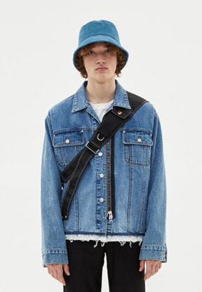 Anderssonbell앤더슨벨 (UNISEX) INSIDE OUT ZIPPER DENIM JACKET awa206u(Blue)