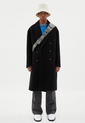 Anderssonbell앤더슨벨 UNISEX CASHMERE NEW JONAS OVERSIZED COAT awa273u(Black)