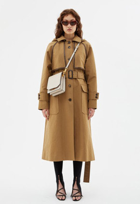 Anderssonbell앤더슨벨 MATTY DETACHABLE HOODIE TRENCH COAT awa210w(SAND BEIGE)