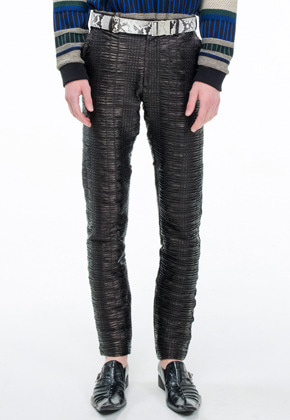 The Greatest더 그레이티스트 19FW09 PLEATED SKINNY BLACK