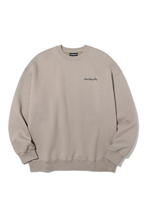 Markgonzales마크곤잘레스 M/G SMALL SIGN LOGO CREWNECK BEIGE