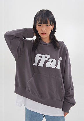 FFAI파이 ffai CROP LOGO HOOD T-SHIRT_Dark Gray