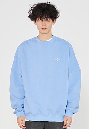 INNER CITY AUDIO이너시티오디오 PATCH OVERFIT SWEATSHIRTS SKY BLUE