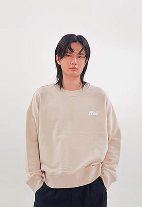 FFAI파이 ffai CROP LOGO SWEAT-SHIRT_Beige