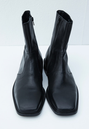 Haleine알렌느 BLACK naked leather boots(KH003)