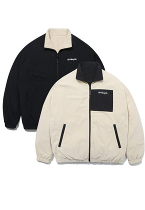 Markgonzales마크곤잘레스 M/G REVERSIBLE FLEECE JACKET IVORY