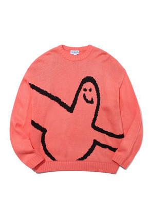 Markgonzales마크곤잘레스 M/G BIG ANGEL CREWNECK KNIT PINK