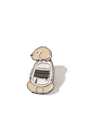 NEIKIDNIS네이키드니스 PUPPY BAG PIN / BEIGE