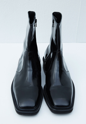 Haleine알렌느 BLACK leather boots(KH004)