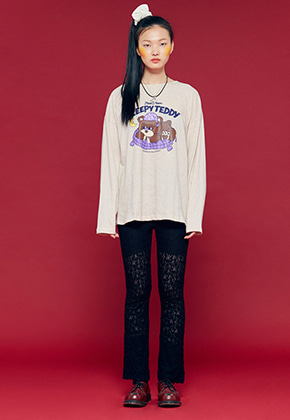 NEONMOON네온문 NEONMOON LACE PANTS - BLACK