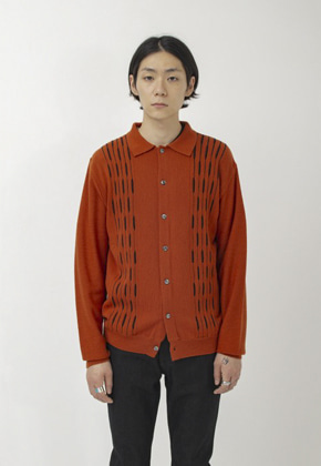 IDEAEND아이디어엔드 Cardigan Sweater (Brick)