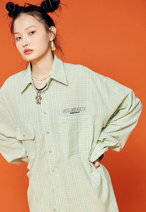 NEONMOON네온문 NEONDUST. 19F CHECK SHIRT - MINT