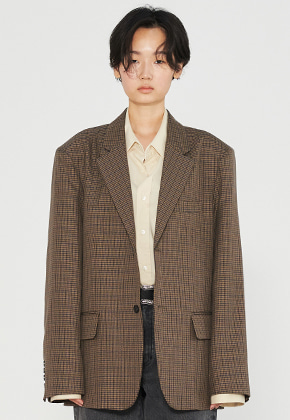 INNER CITY AUDIO이너시티오디오 2 BUTTON OVERFIT BLAZER BROWN