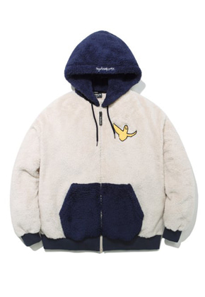 Markgonzales마크곤잘레스 M/G ANGEL BOA ZIP UP HOODIE IVORY