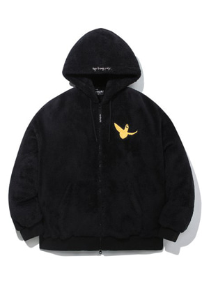 Markgonzales마크곤잘레스 M/G ANGEL BOA ZIP UP HOODIE BLACK
