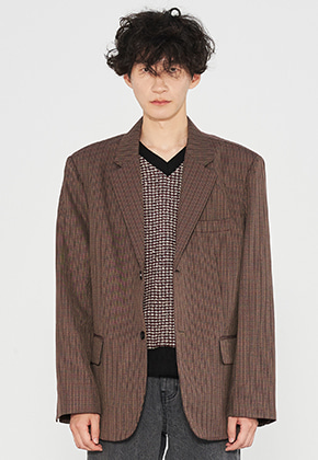INNER CITY AUDIO이너시티오디오 2 BUTTON OVERFIT BLAZER WINE