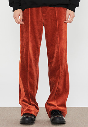 INNER CITY AUDIO이너시티오디오 VELVET TRACK PANTS ORANGE BROWN