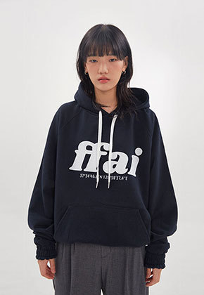FFAI파이 ffai BIG LOGO HOOD T-SHIRT_Navy