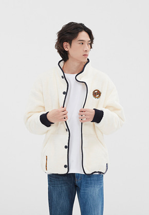 Romantic Crown로맨틱크라운 BUTTON FLEECE JUMPER_OATMEAL
