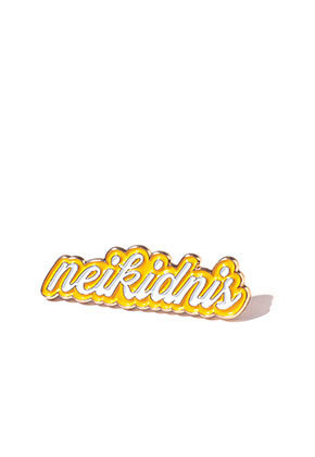 NEIKIDNIS네이키드니스 LETTERING PIN / YELLOW