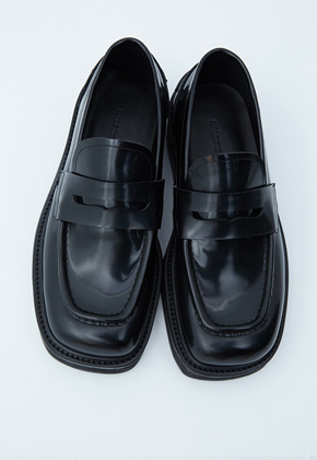 Haleine알렌느 BLACK square toe penny loafer(KH001)