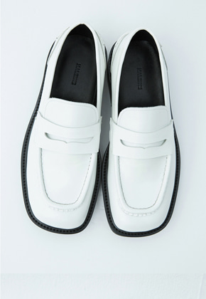 Haleine알렌느 CREAM square toe penny loafer(KH001)