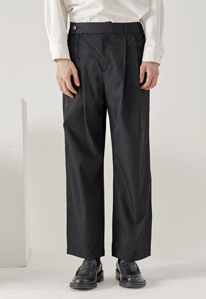 Noun노운 double pocket wide pants (black)