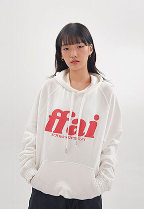 FFAI파이 ffai BIG LOGO HOOD T-SHIRT_White