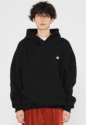 INNER CITY AUDIO이너시티오디오 PATCH OVERFIT HOODIE BLACK