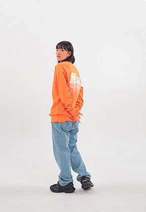 FFAI파이 ffai SMALL LOGO SWEAT-SHIRT_Orange