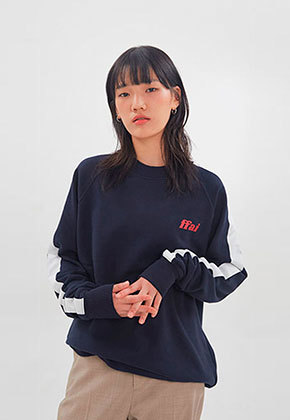 FFAI파이 ffai LINE LOGO SWEAT-SHIRT_Navy